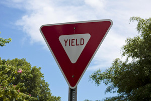 Thumb yield sign